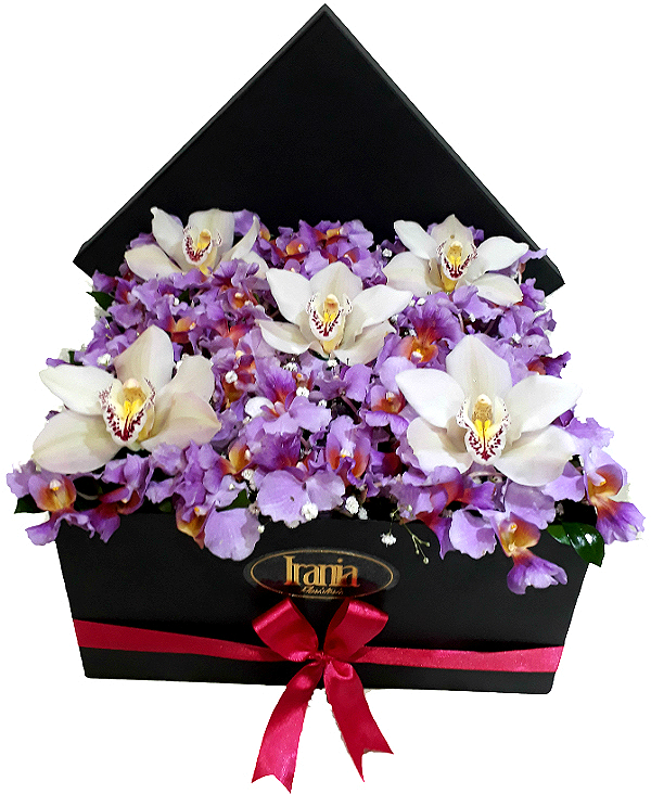 Orquideas en Caja irania floristeria bogota