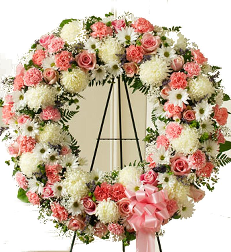 corona fúnebre irania floristería