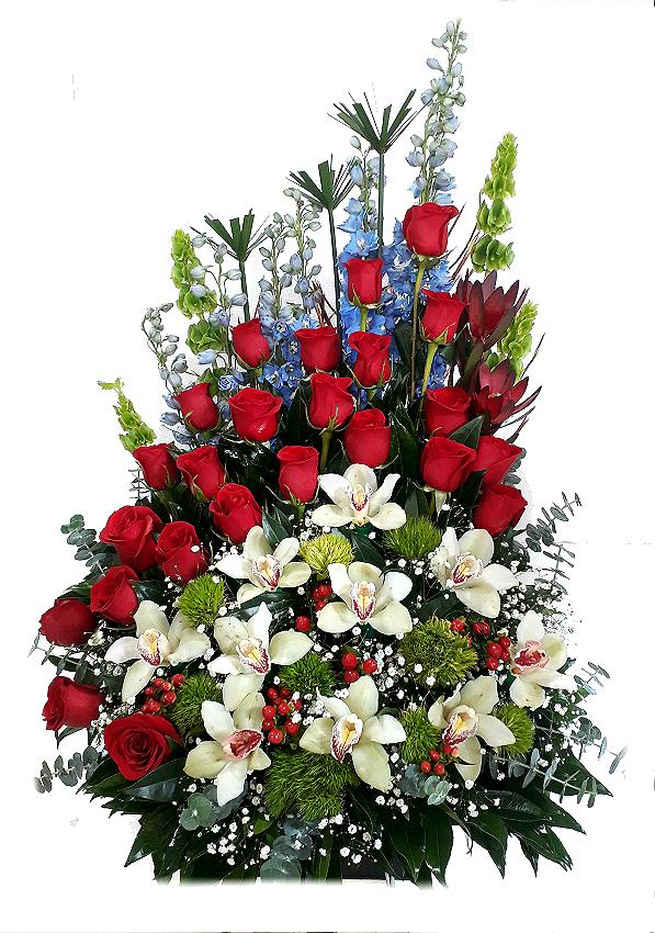 arreglo rosas y orquideas irania floristeria bogota
