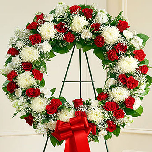 corona funebre - irania floristeria