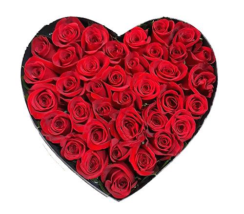 corazon de rosas . irania floristeria bogota